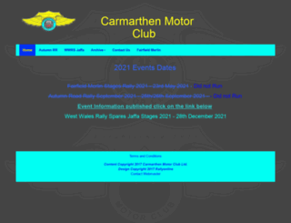 carmarthenmotorclub.co.uk screenshot