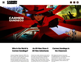 carmensandiego.com screenshot