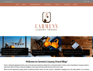 carmensluxurytravel.com screenshot