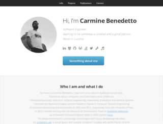 carminebenedetto.net screenshot