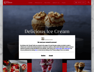 carnation.co.uk screenshot