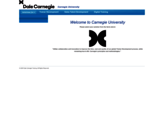 carnegieuniversity.dalecarnegie.com screenshot