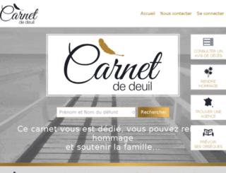 carnet-de-deuil.fr screenshot