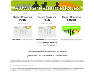 carnetcorredor.es screenshot