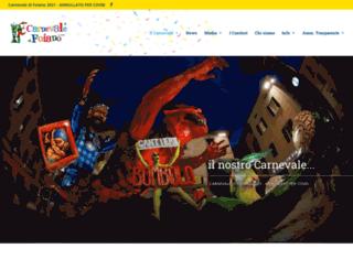carnevaledifoiano.it screenshot