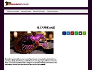 carnevalemaschere.com screenshot