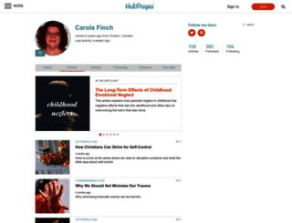 carolafinch.hubpages.com screenshot