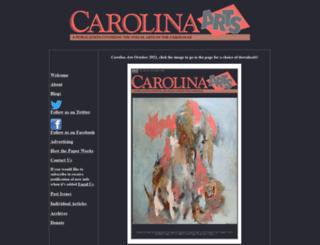 carolinaarts.com screenshot