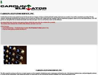 carolinaelevatorservice.com screenshot