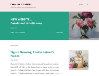 carolinaelizabeth-art.blogspot.com screenshot