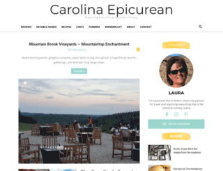 carolinaepicurean.com screenshot