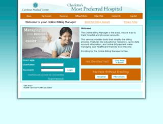carolinashealthcare.patientcompass.com screenshot
