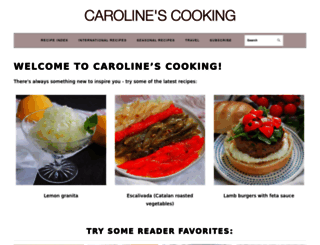 carolinescooking.com screenshot