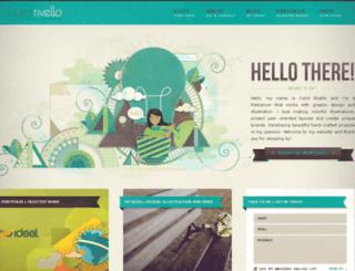 carolrivello.com screenshot