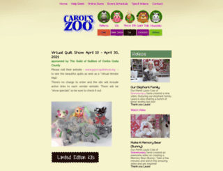 carolszoo.com screenshot