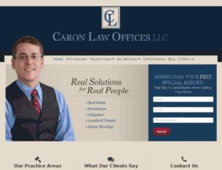 caronlaw.avvosites.com screenshot