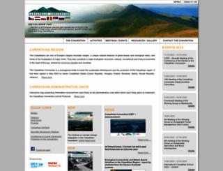 carpathianconvention.org screenshot