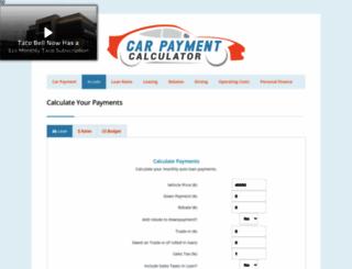 carpaymentcalculator.net screenshot