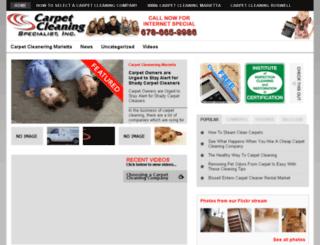 carpetcleaningmariettaga.info screenshot