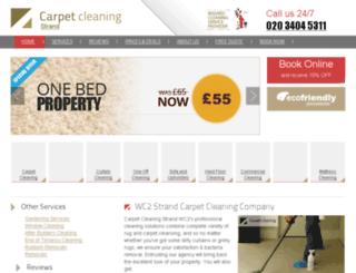 carpetcleaningstrand.co.uk screenshot