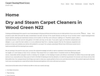 carpetcleaningwoodgreen.co.uk screenshot