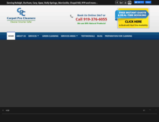 carpetprocleaners.com screenshot