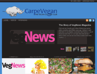 carpevegan.com screenshot