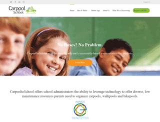 carpooltoschool.com screenshot