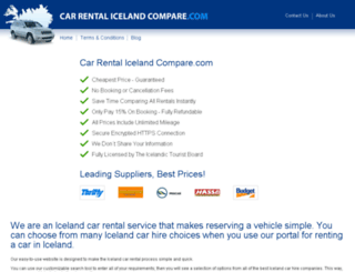 carrentalicelandcompare.com screenshot