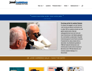 carreras-stiftung.de screenshot