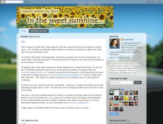 carrieinthesweetsunshine.blogspot.com screenshot