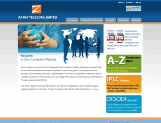 carrier.zamirtelecom.com screenshot