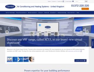 carrieraircon.co.uk screenshot