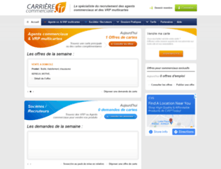 carrierecommerciale.fr screenshot