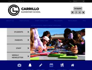 carrilloelementary.org screenshot