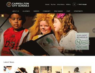 carrolltoncityschools.net screenshot