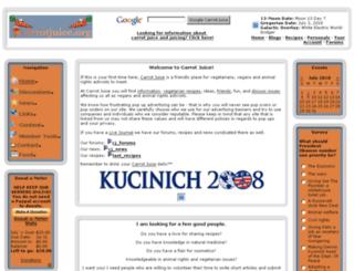 carrotjuice.org screenshot