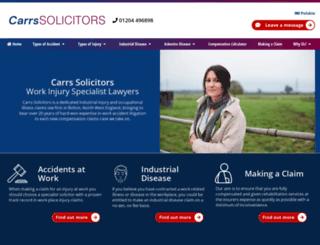 carrssolicitors.com screenshot