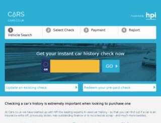 cars.co.uk screenshot