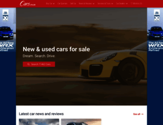 cars.co.za screenshot