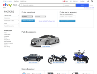 cars.ebay.ca screenshot