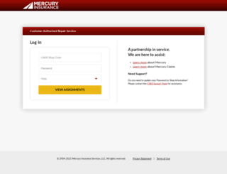 cars.mercuryinsurance.com screenshot