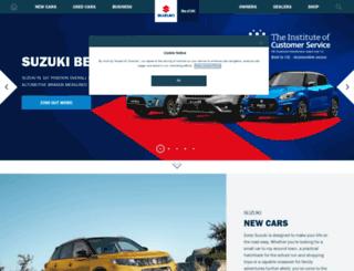 cars.suzuki.co.uk screenshot