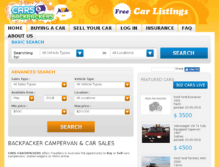 cars4backpackers.com.au screenshot