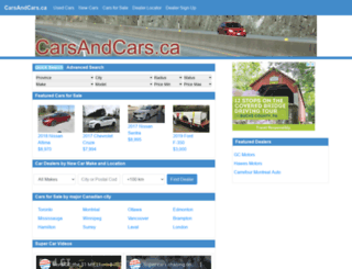 carsandcars.ca screenshot
