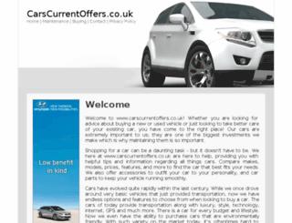 carscurrentoffers.co.uk screenshot