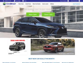 carsdirect.com screenshot