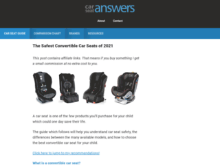 carseatanswers.com screenshot