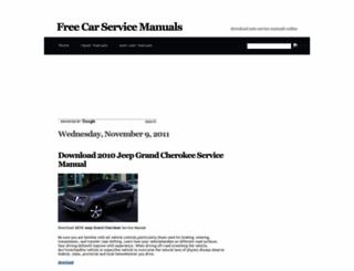 carservicemanuals.blogspot.com screenshot