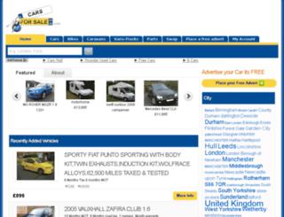 carsforsalegb.com screenshot